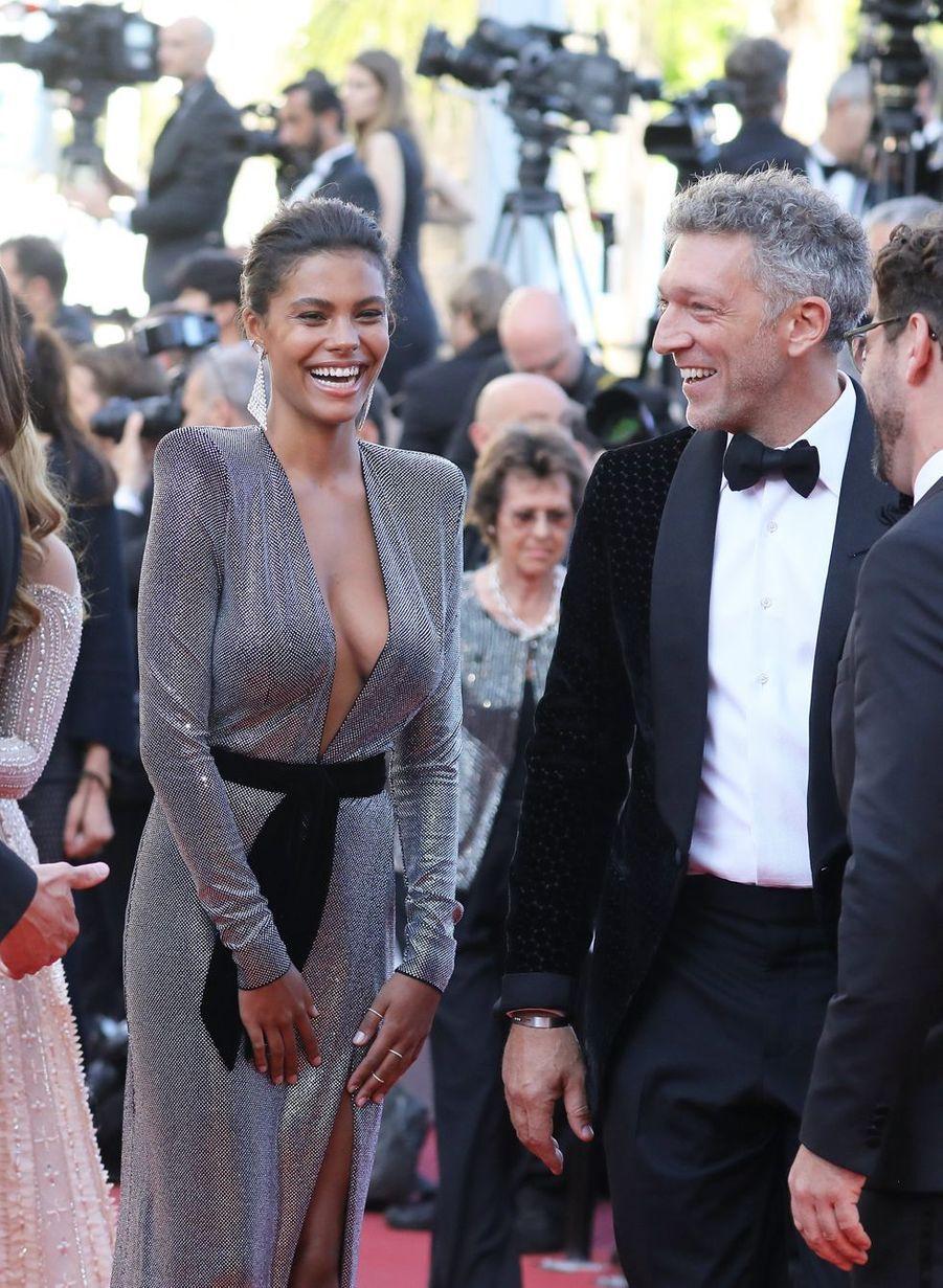 Vincent Cassel et Tina Kunakey lors du 71ème Festival de Cannes, le 12 mai 2018