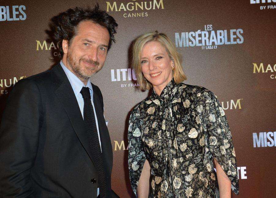Edouard Baer et Léa Druckerlors de la soirée Magnum à Cannes, le 15 mai 2019
