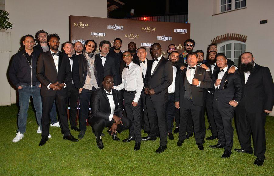 """L'équipe du film """"Les Misérables"""" lors dela soirée Magnum à Cannes, le 15 mai 2019"""