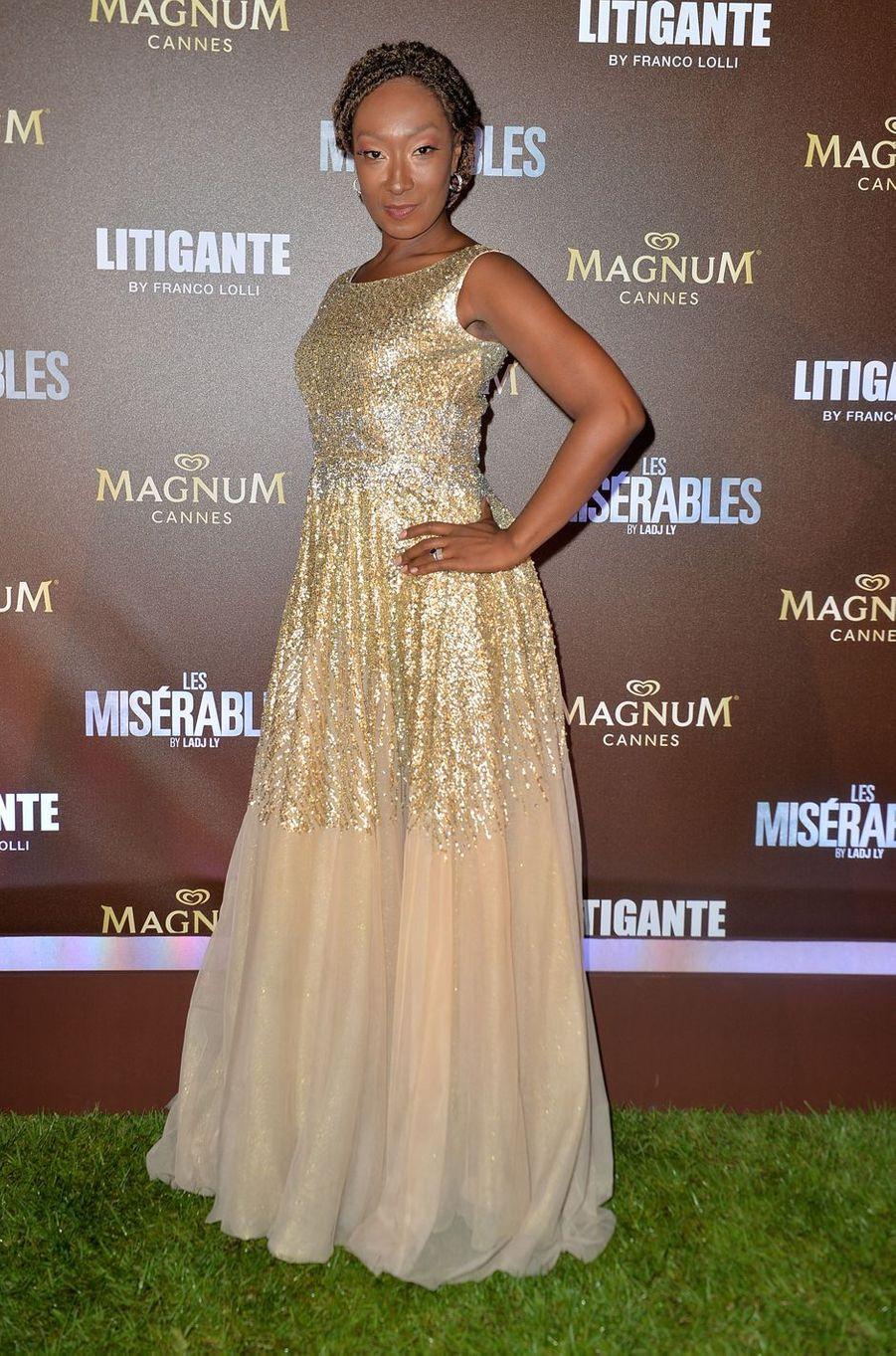 Nadège Beausson-Diagnelors de la soirée Magnum à Cannes, le 15 mai 2019