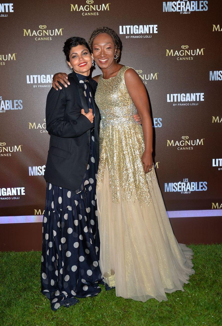 Nawell Madani et Nadège Beausson-Diagnelors de la soirée Magnum à Cannes, le 15 mai 2019