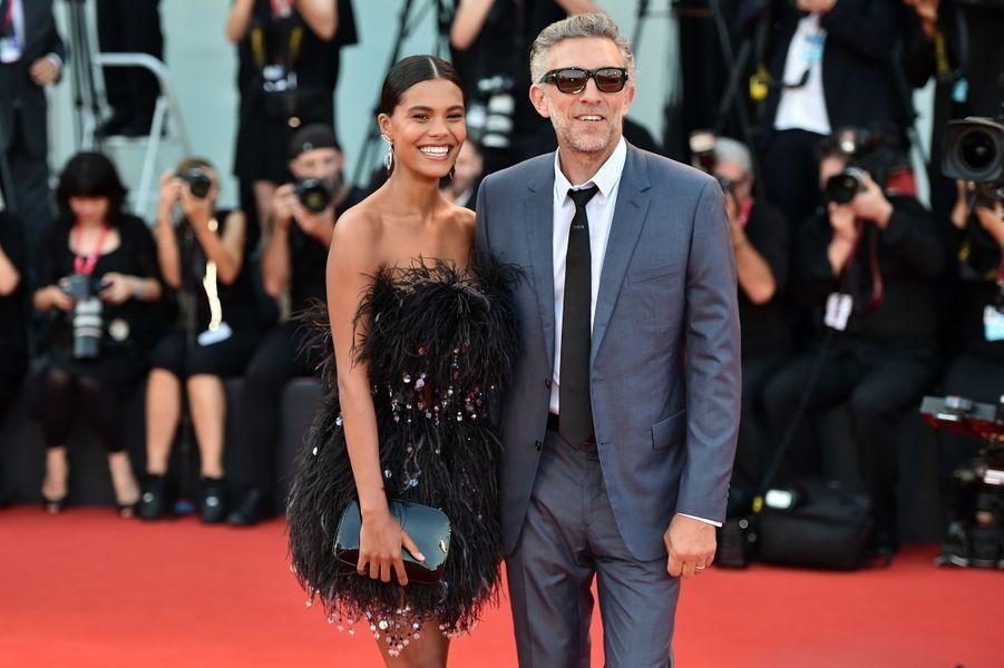 Tina Kunakey et Vincent Cassel à Venise, le 30 août 2019.