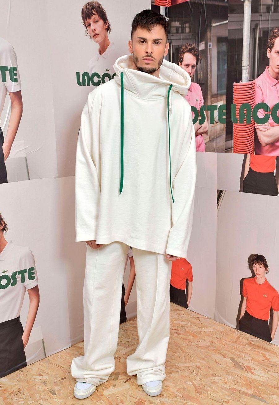 Baptiste Giabiconiau défilé prêt-à-porter automne-hiver 2020-2021 Lacoste à Paris le 3 mars 2020.