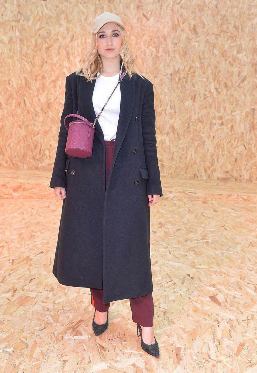 Chloé Jouannet au défilé prêt-à-porter automne-hiver 2020-21 Lacoste à Paris le 3 mars 2020.