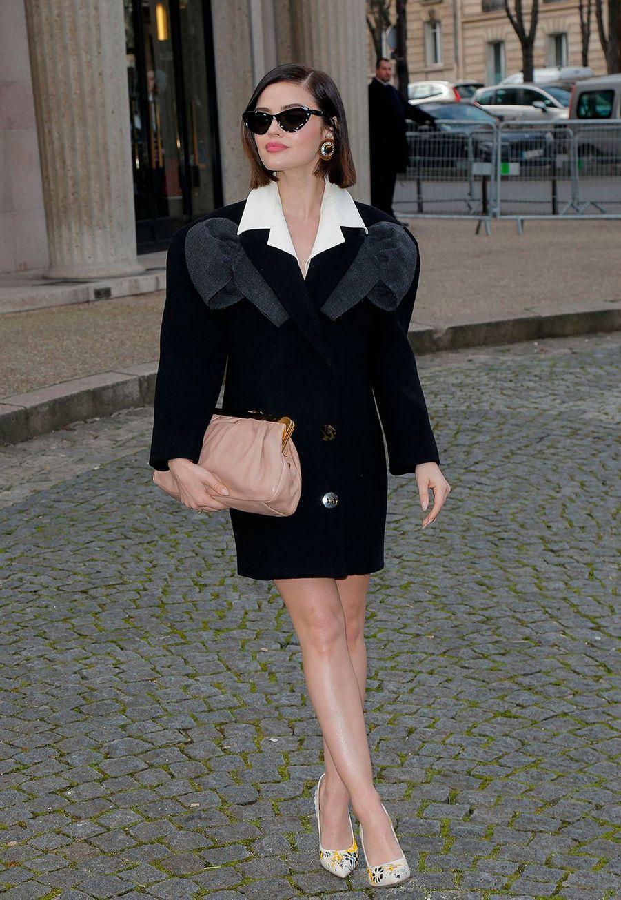 Lucy Haleau défilé prêt-à-porter automne-hiver 2020-2021 Miu Miu à Paris le 3 mars 2020.