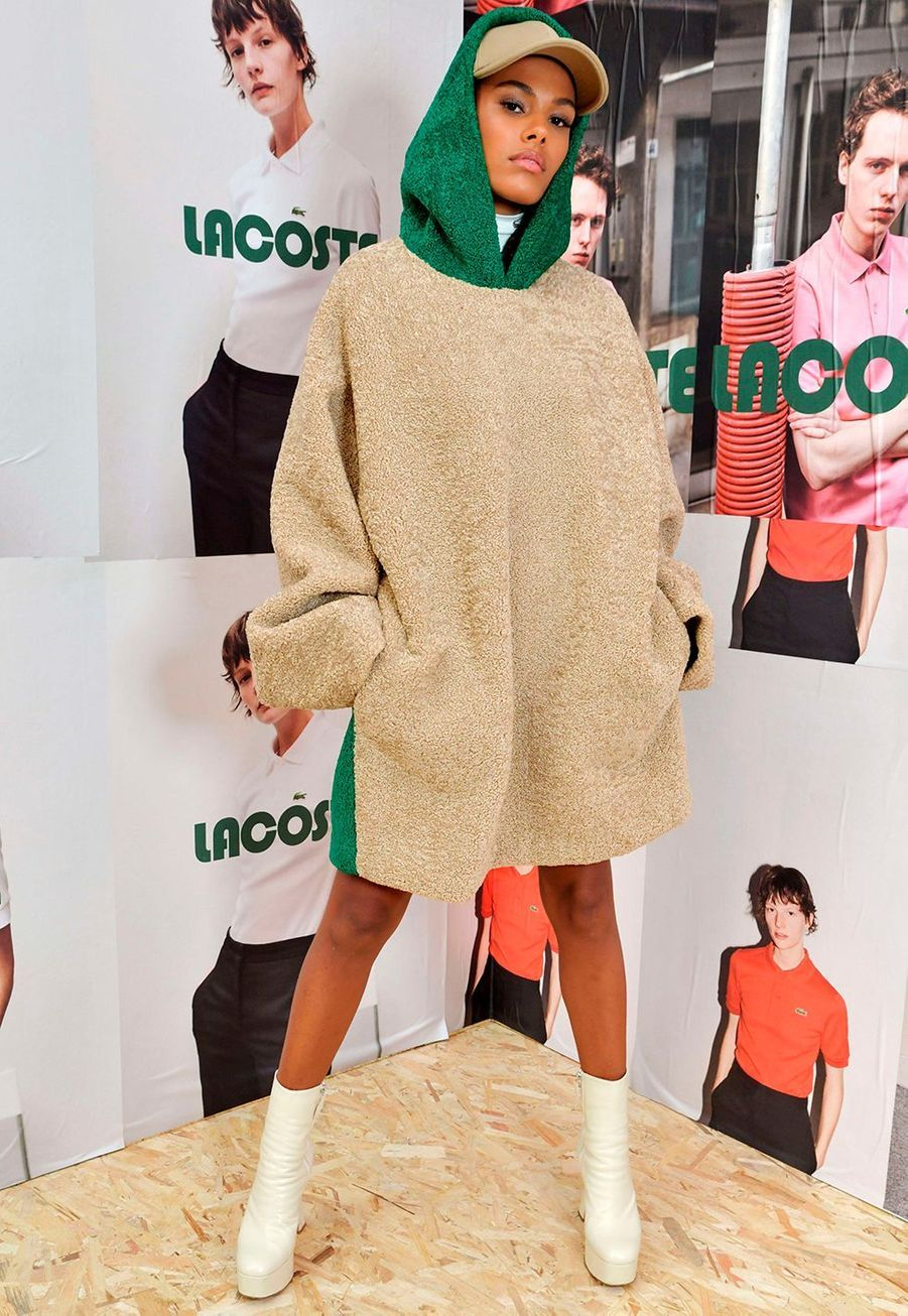 Tina Kunakeyau défilé prêt-à-porter automne-hiver 2020-2021 Lacoste à Paris le 3 mars 2020.