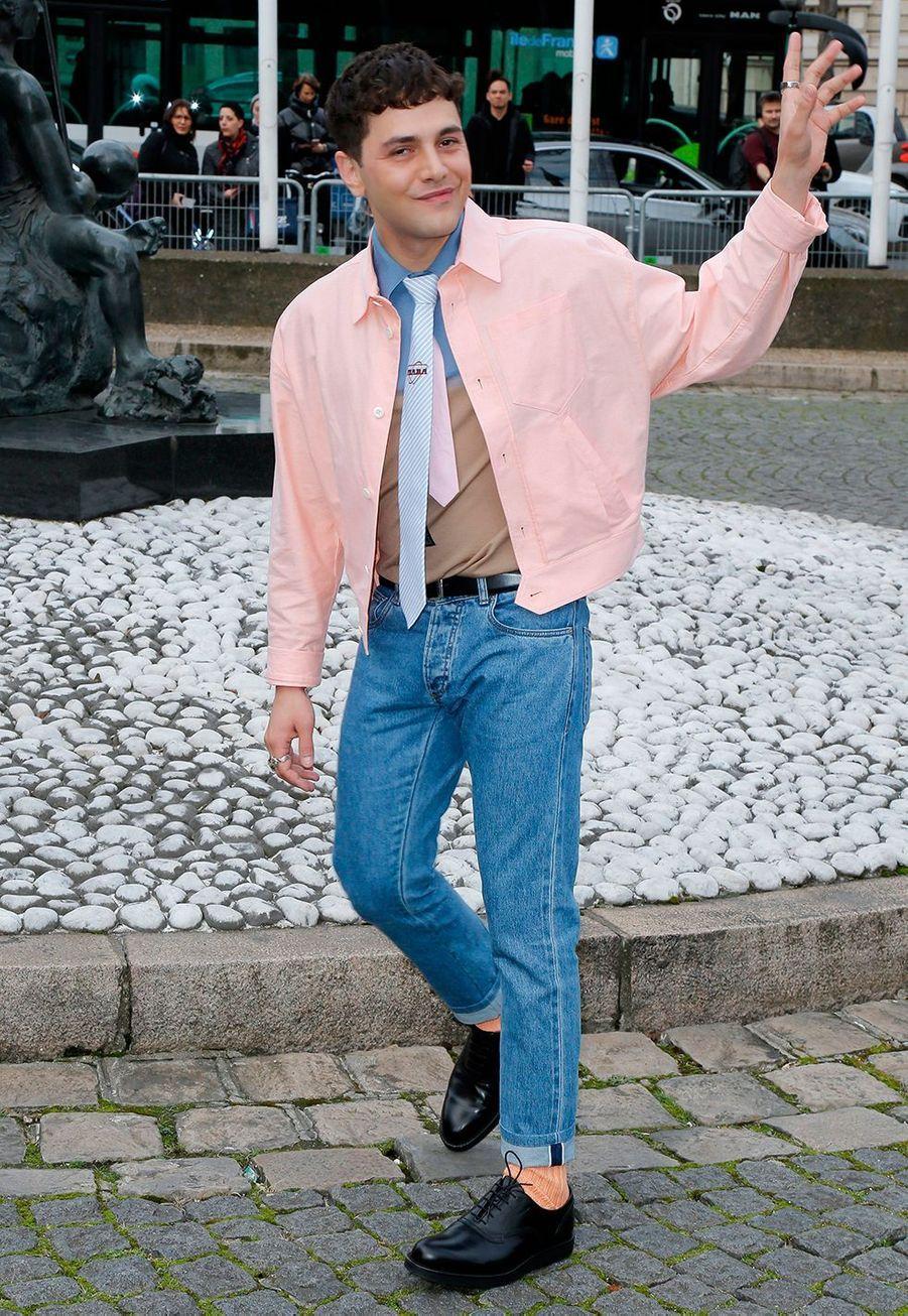 Xavier Dolanau défilé prêt-à-porter automne-hiver 2020-2021 Miu Miu à Paris le 3 mars 2020.