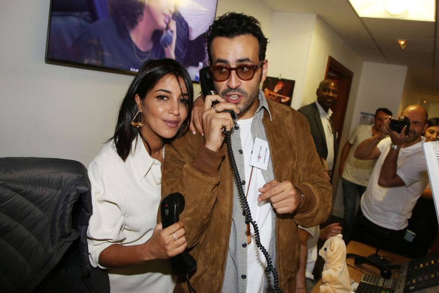 Leïla Bekhti et Jonathan Cohenlors de la 15e édition du Charity Day organisé par Aurel BGC en mémoire des victimes du 11 septembre 2001, à Paris le 11 septembre 2019