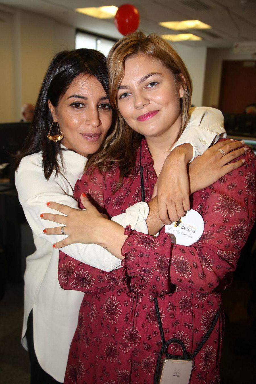 Leïla Bekhti et Louane lors de la 15e édition du Charity Day organisé par Aurel BGC en mémoire des victimes du 11 septembre 2001, à Paris le 11 septembre 2019