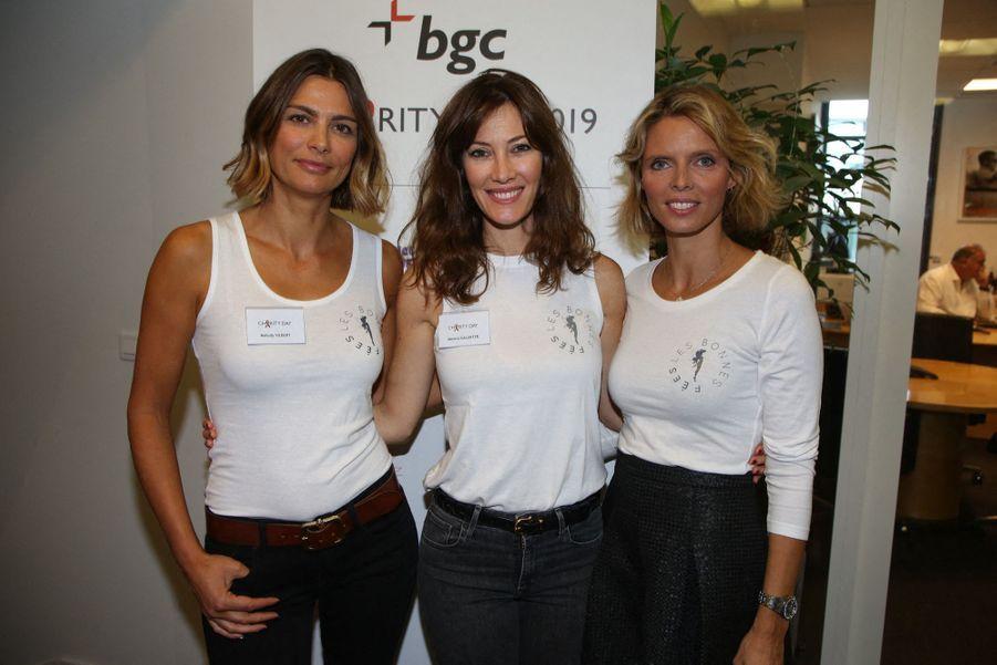 Mélody Vilbert, Mareva Galanter et Sylvie Tellierlors de la 15e édition du Charity Day organisé par Aurel BGC en mémoire des victimes du 11 septembre 2001, à Paris le 11 septembre 2019