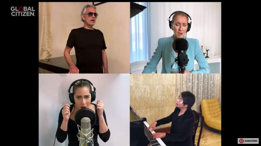 Andrea Bocelli, Lady Gaga, Céline Dion et Lang Lang