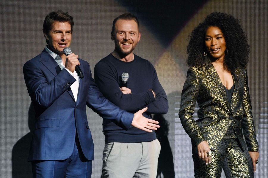 Tom Cruise, Simon Pegg et Angela Bassett au CinemaCon à Las Vegas