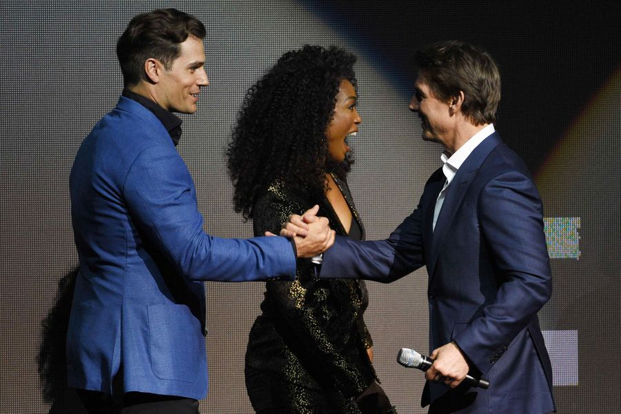 Tom Cruise, Henry Cavill et Angela Bassett au CinemaCon à Las Vegas