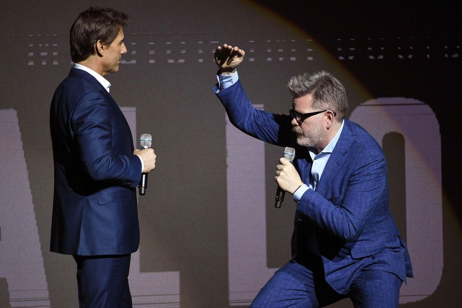 Tom Cruise et Christopher McQuarrie au CinemaCon à Las Vegas
