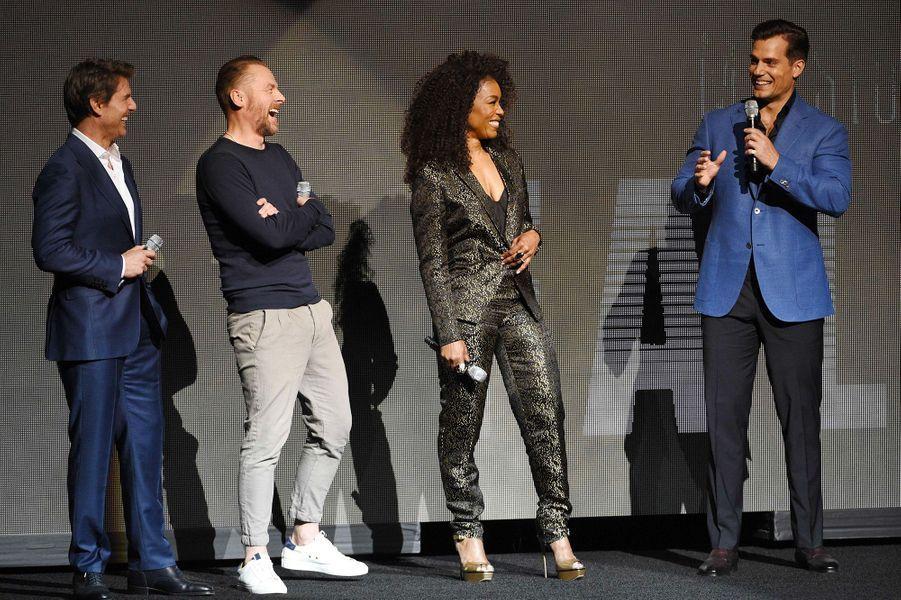 Tom Cruise, Simon Pegg, Angela Bassettet Henry Cavill au CinemaCon à Las Vegas