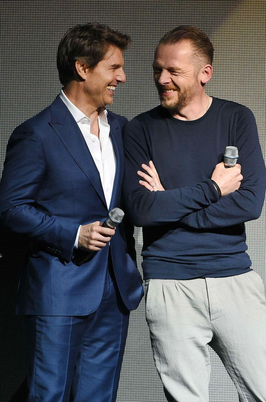 Tom Cruise et Simon Pegg au CinemaCon à Las Vegas