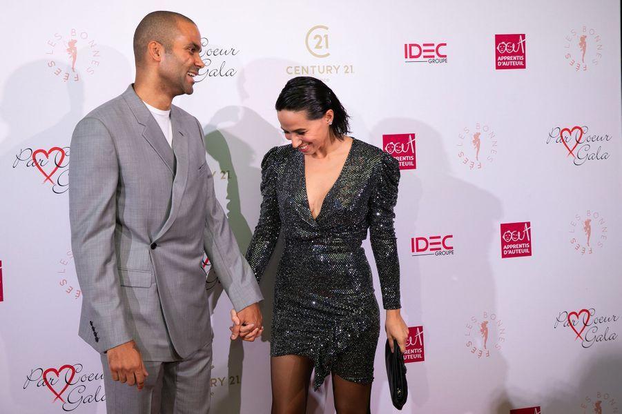 Tony et Axelle Parkerau gala Par Coeur au Pavillon d'Armenonville à Paris en octobre 2019