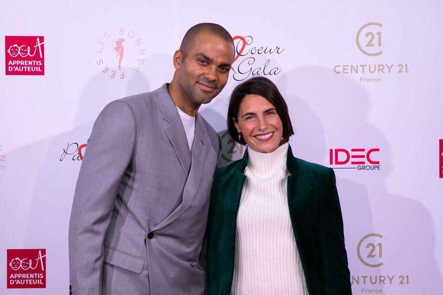 Tony Parket et Alessandra Subletau gala Par Coeur au Pavillon d'Armenonville à Paris en octobre 2019