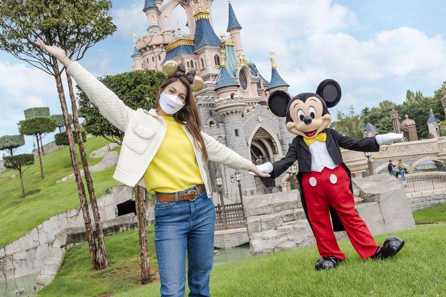 Iris Mittenaereen visite à Disneyland Paris