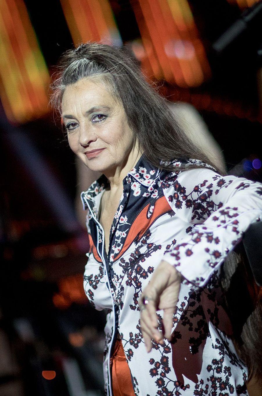 """Catherine Ringeravant le direct de l'émission """"Tous ensemble pour la musique"""" pour la Fête de la musique 2020 à l'AccorHotels Arena à Paris le 19 juin 2020"""