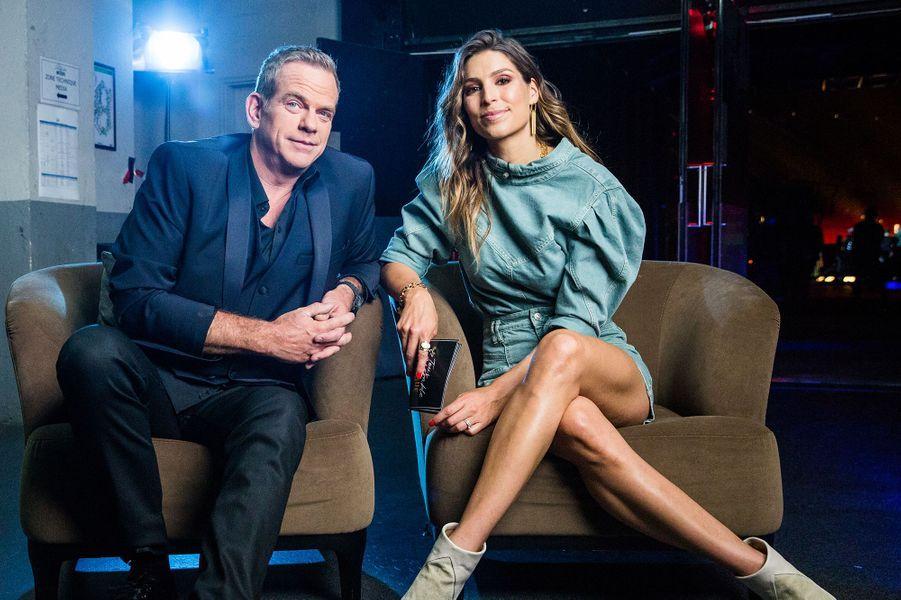 """Garou et Laury Thillemanavant le direct de l'émission """"Tous ensemble pour la musique"""" pour la Fête de la musique 2020 à l'AccorHotels Arena à Paris le 19 juin 2020"""