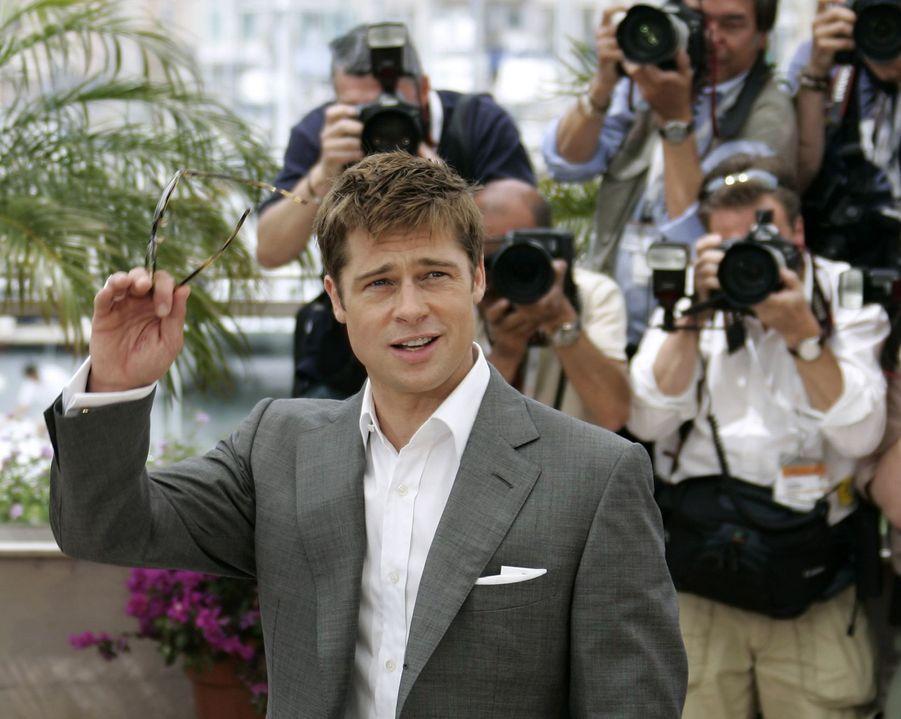 Brad Pitt au photocall du film «Un coeur invaincu» au Festival de Cannes le 21 mai 2007