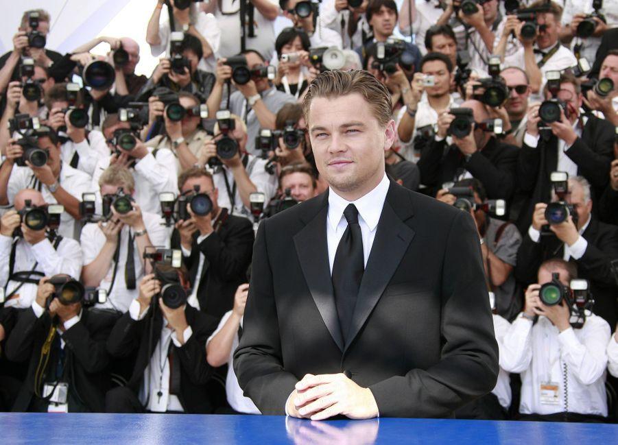 Leonardo DiCaprio au photocall du film «La Onzième Heure, le dernier virage» au Festival de Cannes le 19 mai 2007