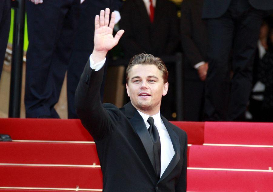 Leonardo DiCaprio lors de la montée des marches du film «La Onzième Heure, le dernier virage» au Festival de Cannes le 19 mai 2007