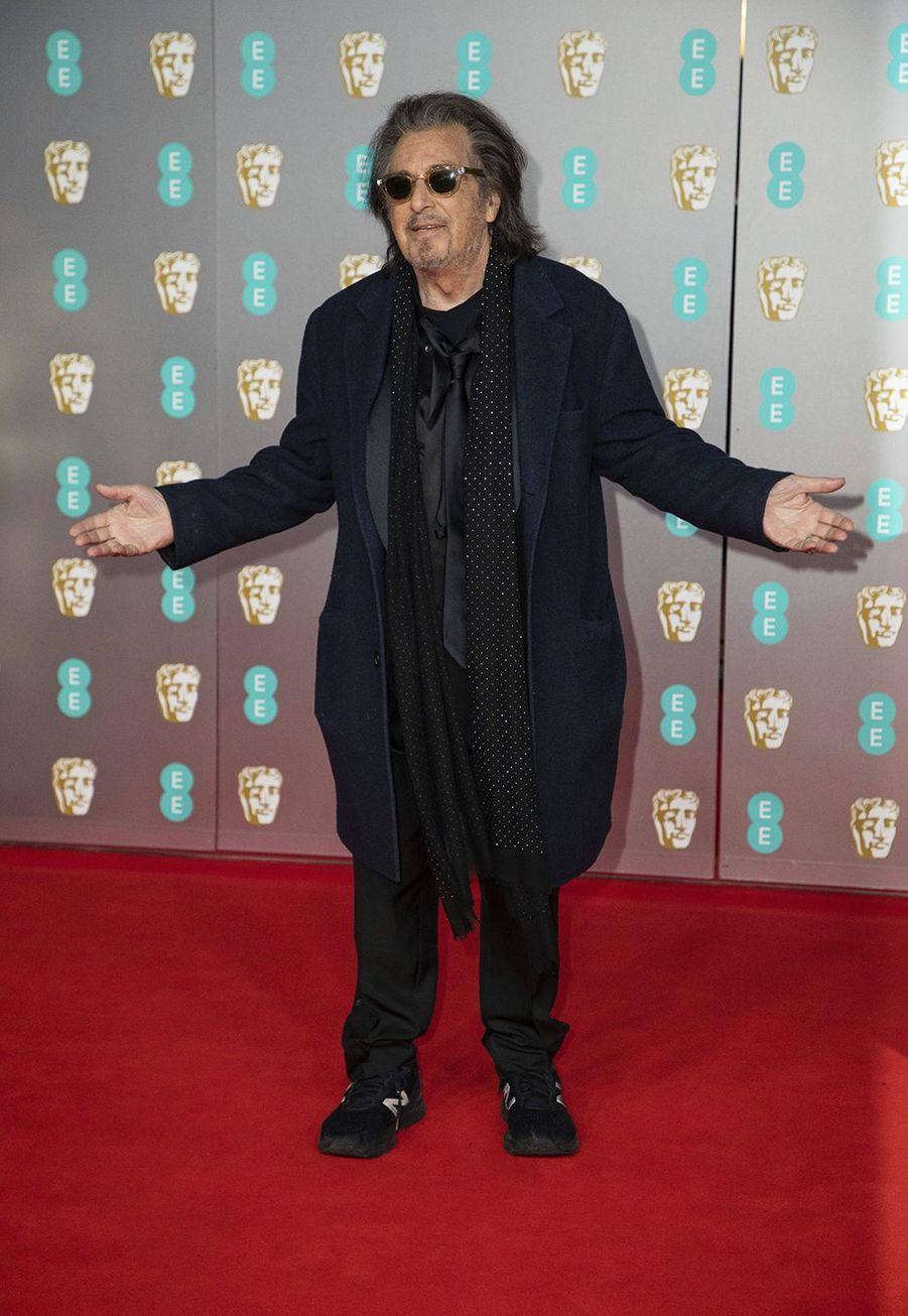 Al Pacinoà la73e cérémonie des British Academy Film Awards à Londres le 2 février 2020