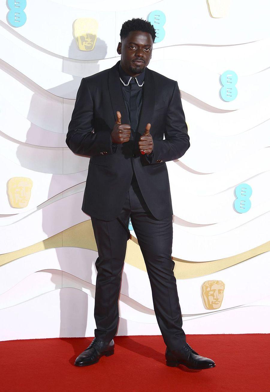 Daniel Kaluuyaà la73e cérémonie des British Academy Film Awards à Londres le 2 février 2020