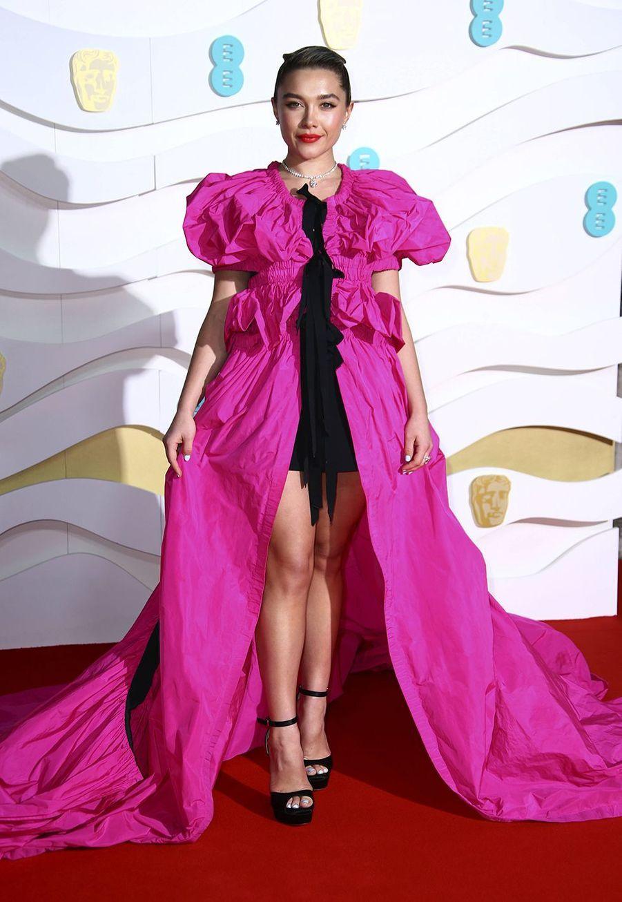 Florence Pugh (en robe Dries Van Noten)à la73e cérémonie des British Academy Film Awards à Londres le 2 février 2020