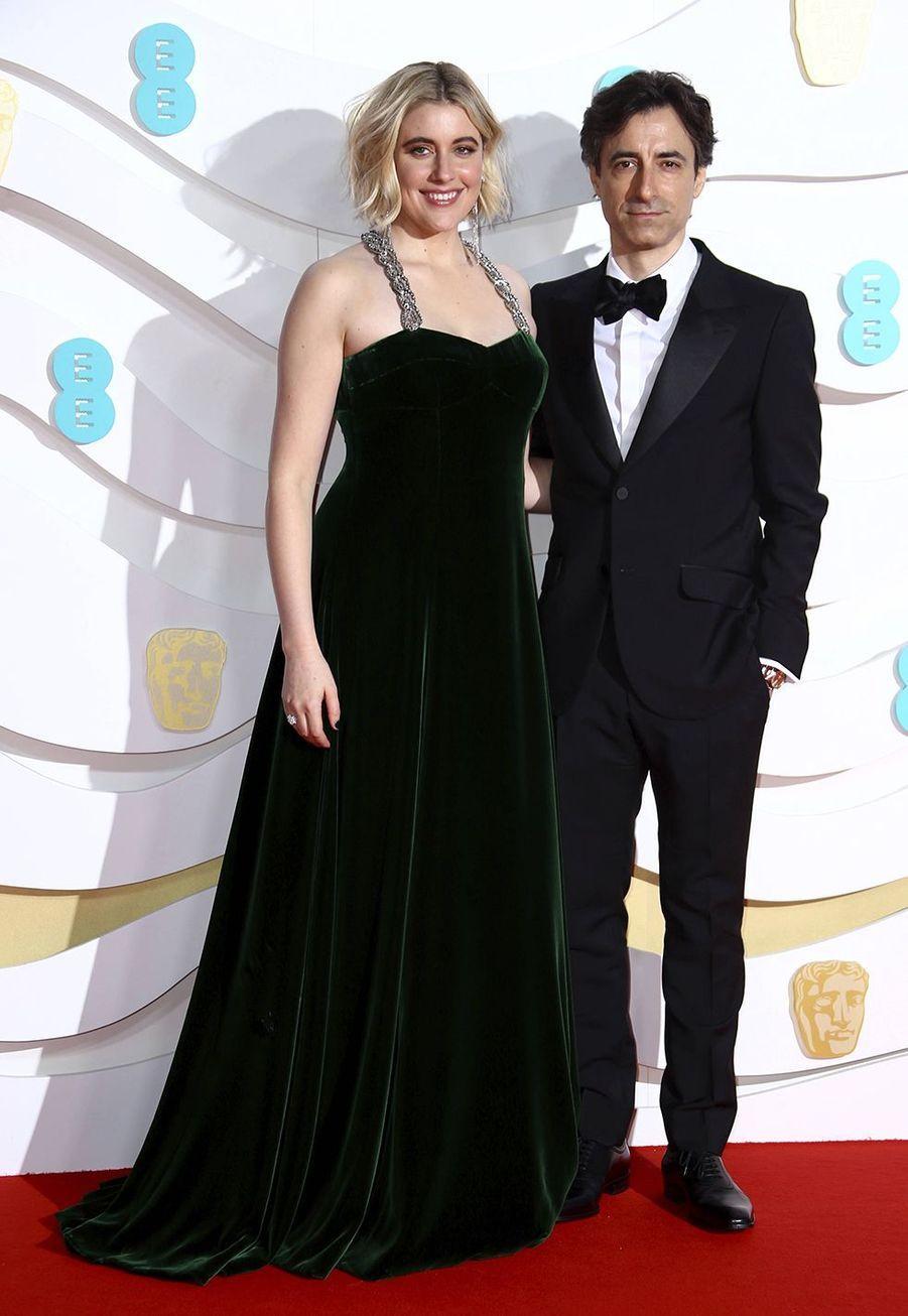 Greta Gerwig et Noah Baumbachà la73e cérémonie des British Academy Film Awards à Londres le 2 février 2020