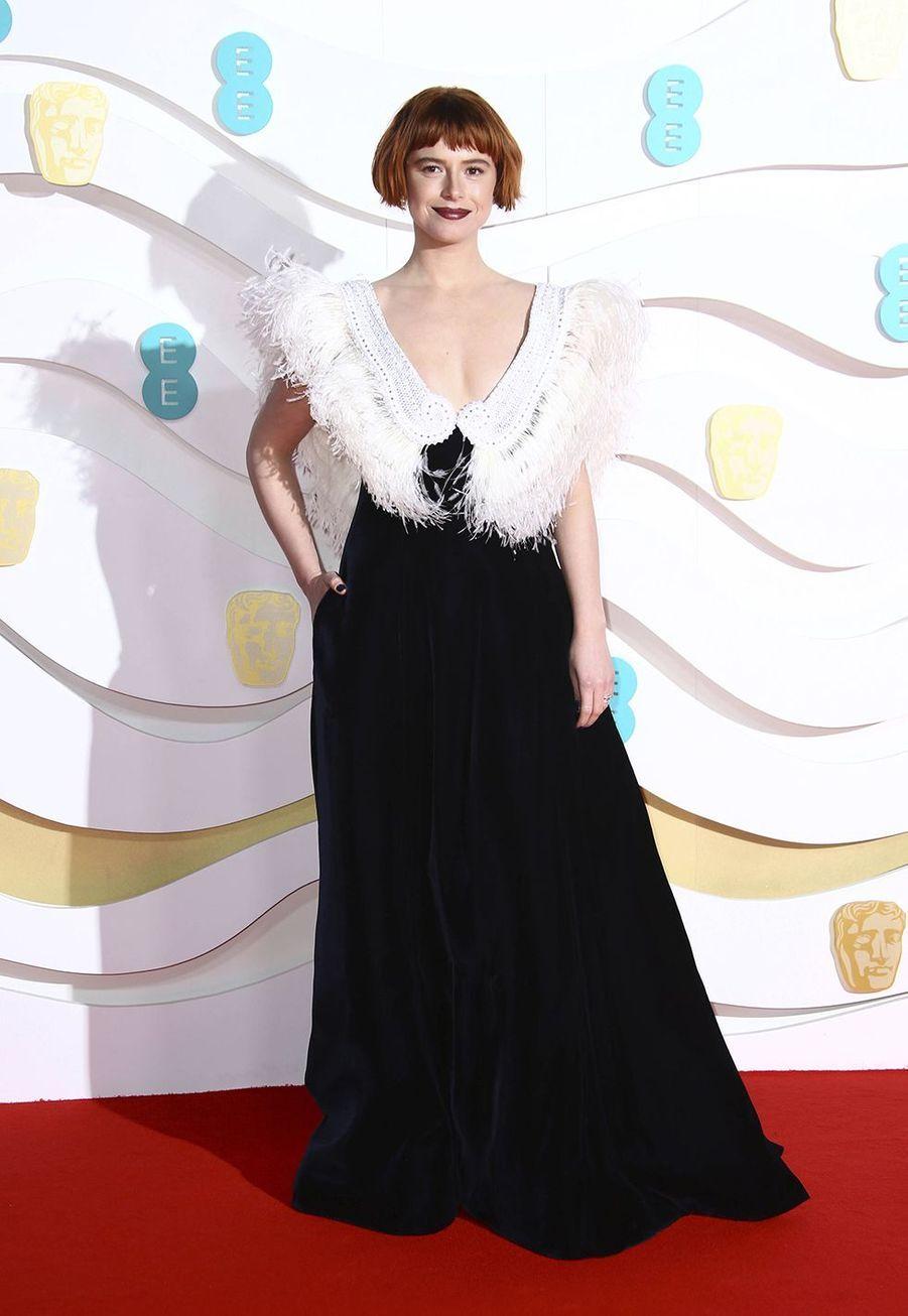 Jessie Buckleyà la73e cérémonie des British Academy Film Awards à Londres le 2 février 2020