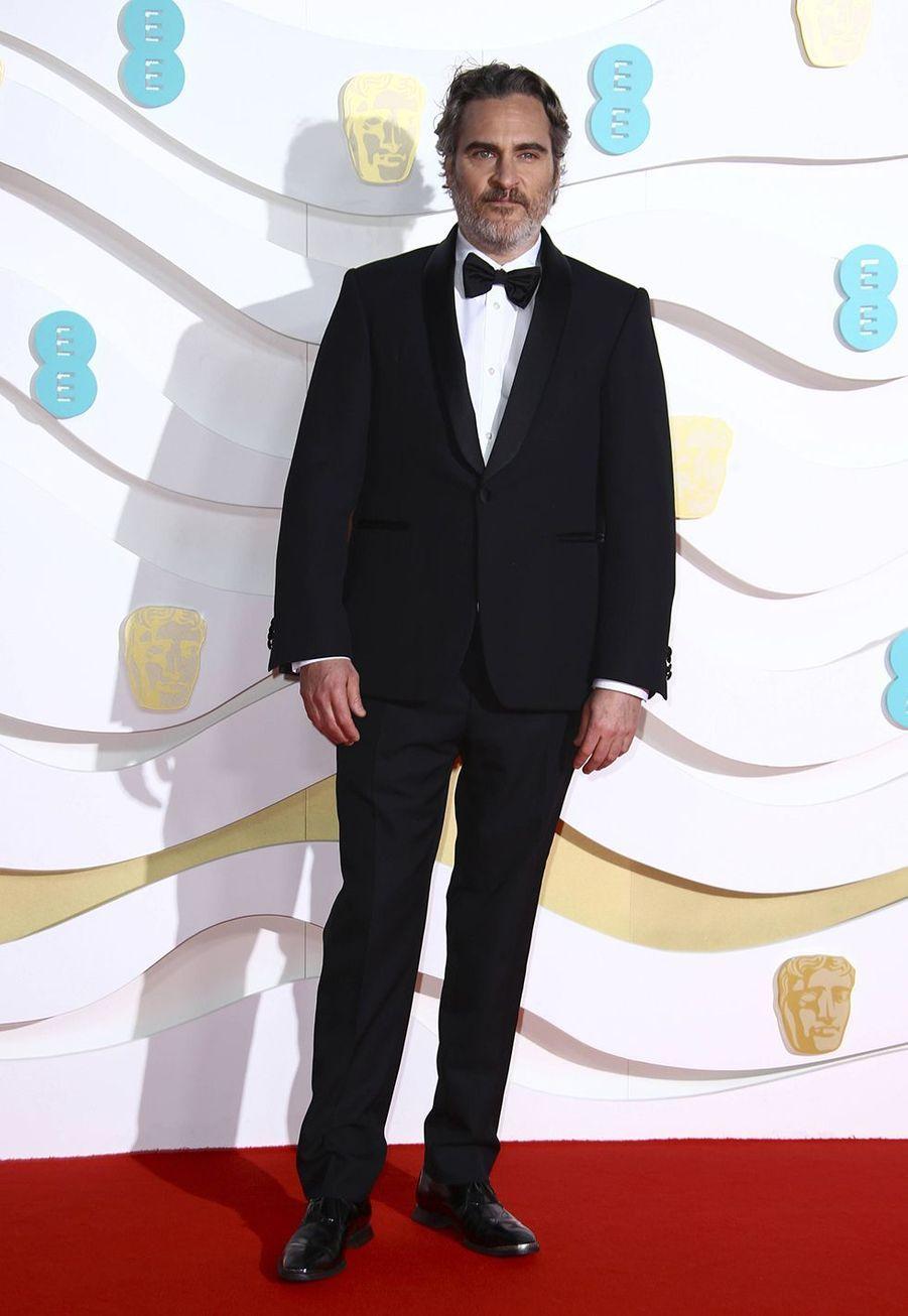 Joaquin Phoenixà la73e cérémonie des British Academy Film Awards à Londres le 2 février 2020