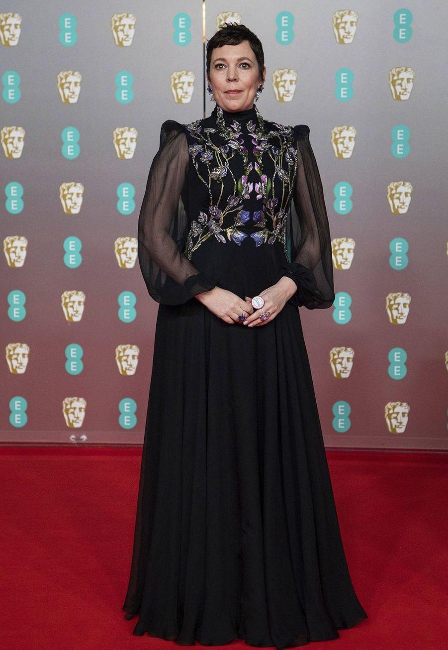 Olivia Colman (en robe Alexander McQueen)à la73e cérémonie des British Academy Film Awards à Londres le 2 février 2020