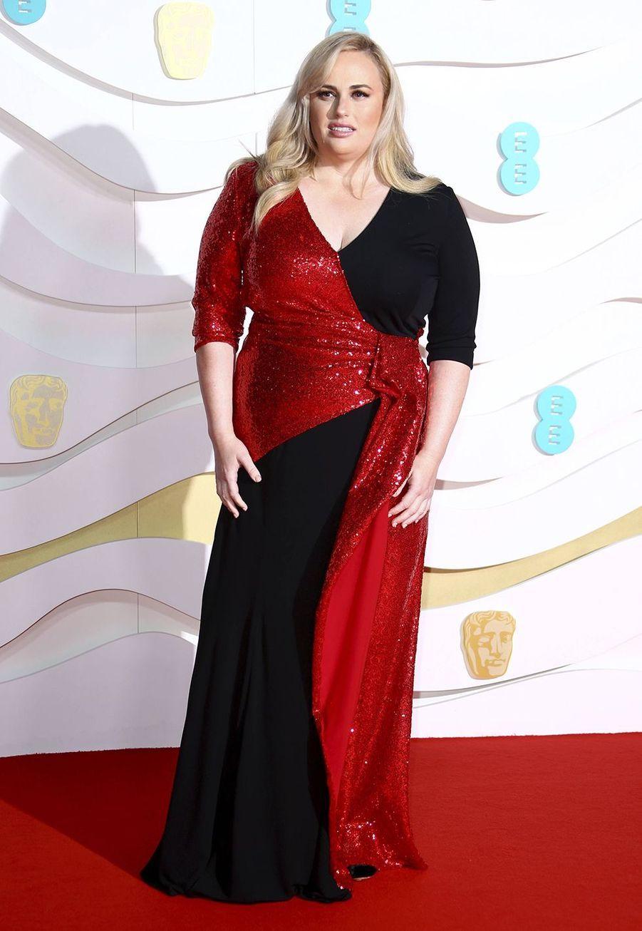 Rebel Wilsonà la73e cérémonie des British Academy Film Awards à Londres le 2 février 2020