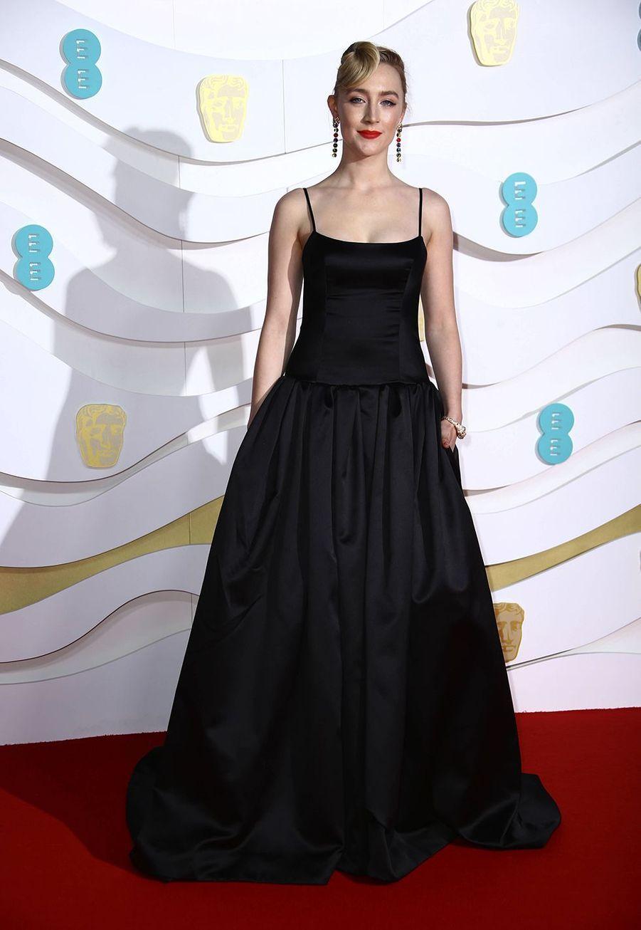 Saoirse Ronan (en Gucci)à la73e cérémonie des British Academy Film Awards à Londres le 2 février 2020