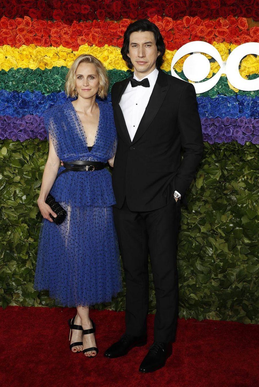 Adam Driver et son épouse Joanne Tuckerà la 73e cérémonie des Tony Awards le 9 juin 2019 à New York