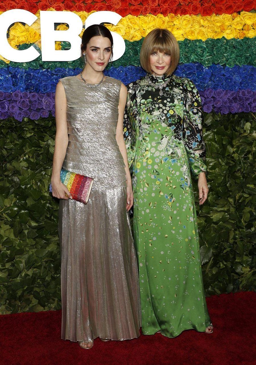 Anna Wintour et sa fille Bee Shafferà la 73e cérémonie des Tony Awards le 9 juin 2019 à New York