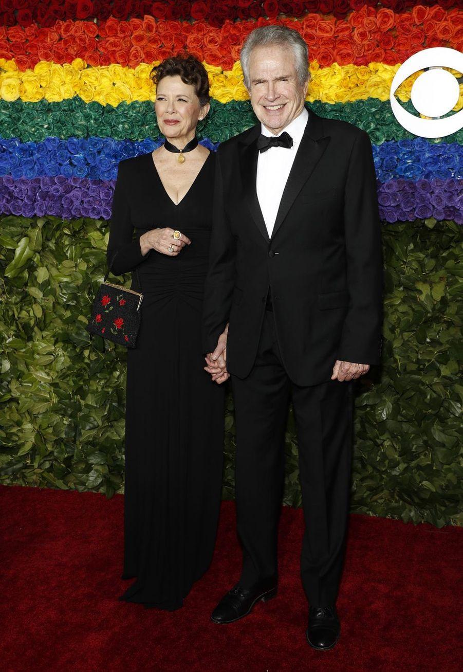Annette Bening et Warren Beatty à la 73e cérémonie des Tony Awards le 9 juin 2019 à New York