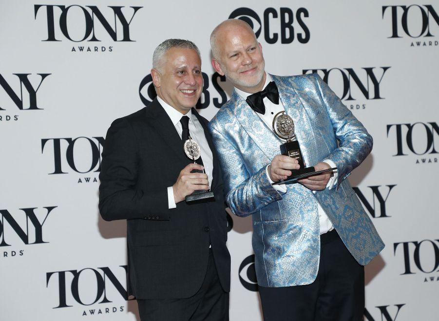 David Stone et Ryan Murphy lors de la 73e cérémonie des Tony Awards le 9 juin 2019 à New York