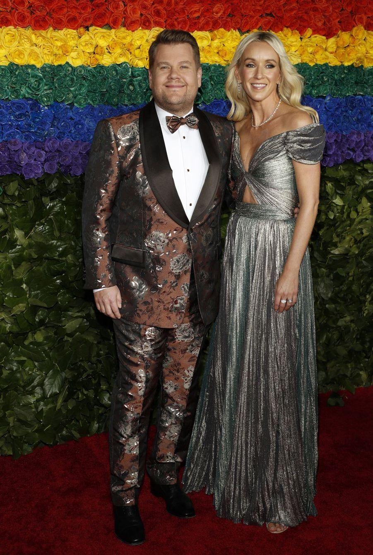 James Corden et son épouse Juliaà la 73e cérémonie des Tony Awards le 9 juin 2019 à New York