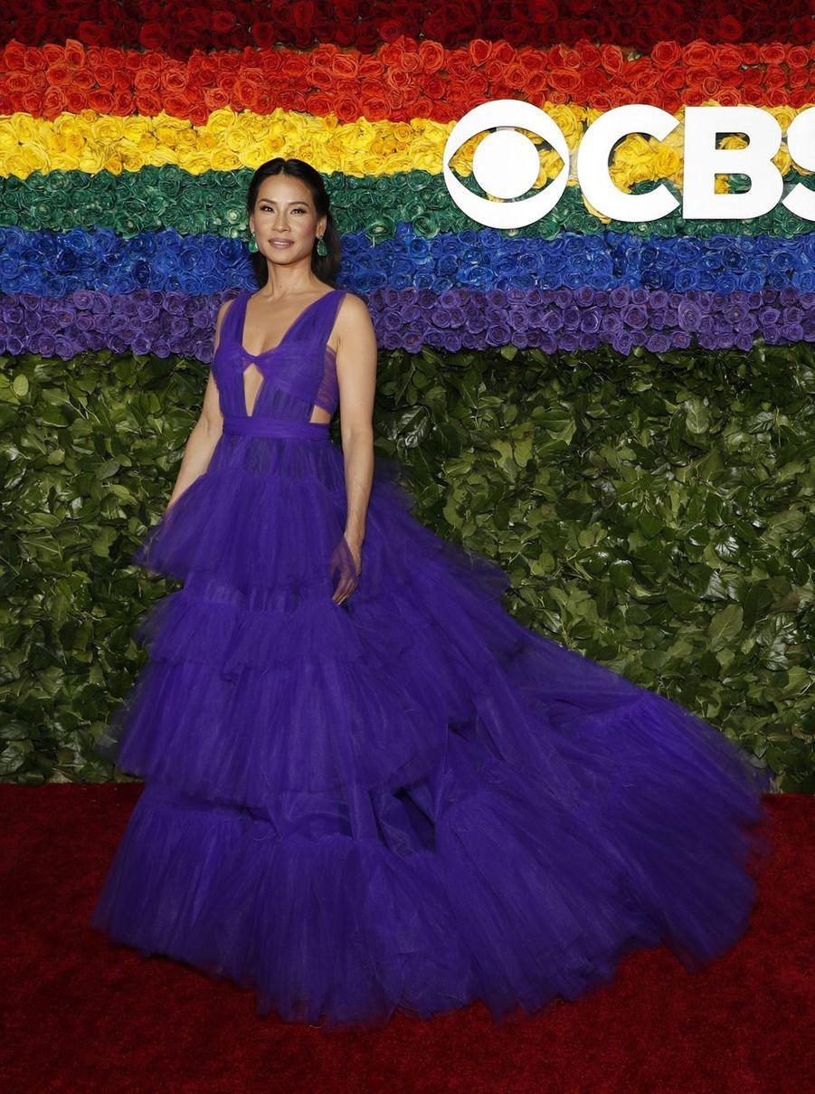 Lucy Liu à la 73e cérémonie des Tony Awards le 9 juin 2019 à New York