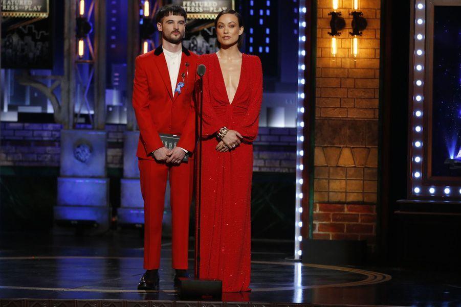 Tom Sturridge et Olivia Wilde lors de la 73e cérémonie des Tony Awards le 9 juin 2019 à New York