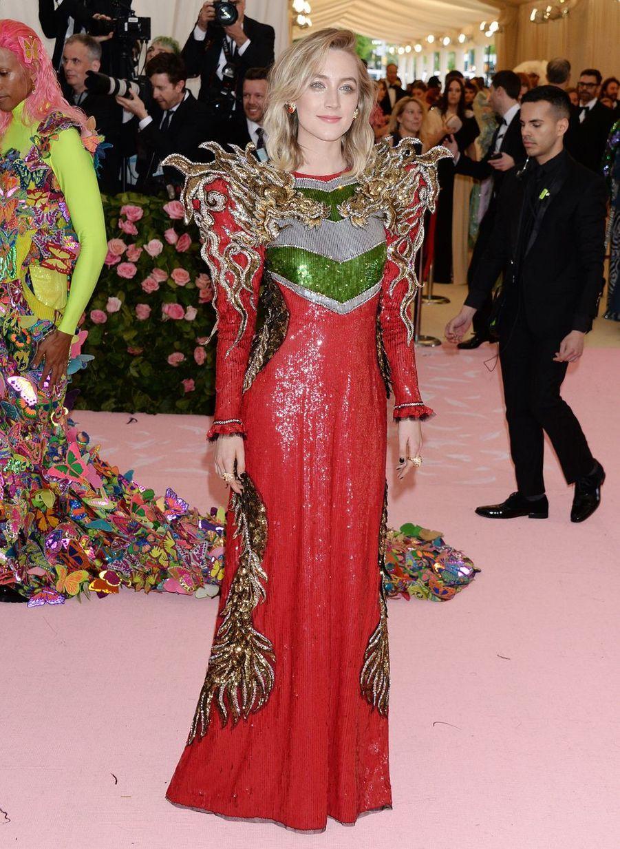 Saoirse Ronanau MET Gala à New York le 6 mai 2019