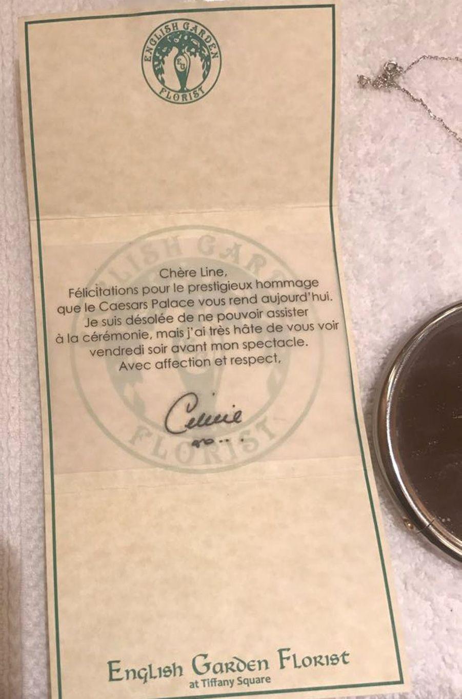 Le mot de Céline Dion adressé à Line Renaud.