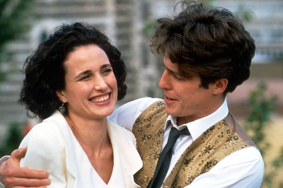 Hugh Grant etAndie MacDowelldans «Quatre mariages et un enterrement» (1994)
