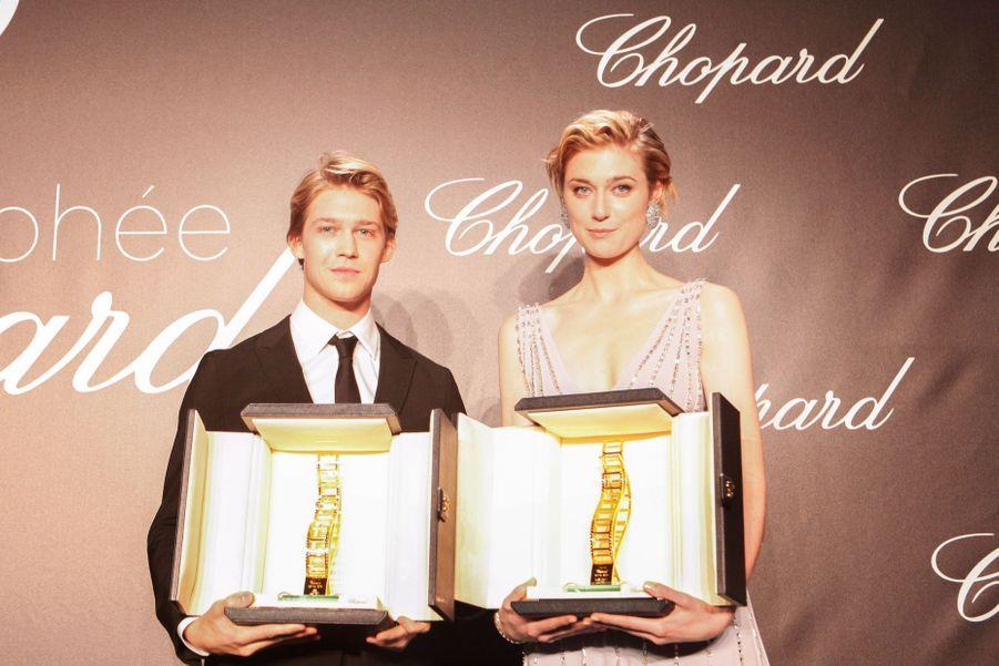 Joe Alwyn et Elizabeth Debicki lauréats du prix Chopard, le 14 mai 2018