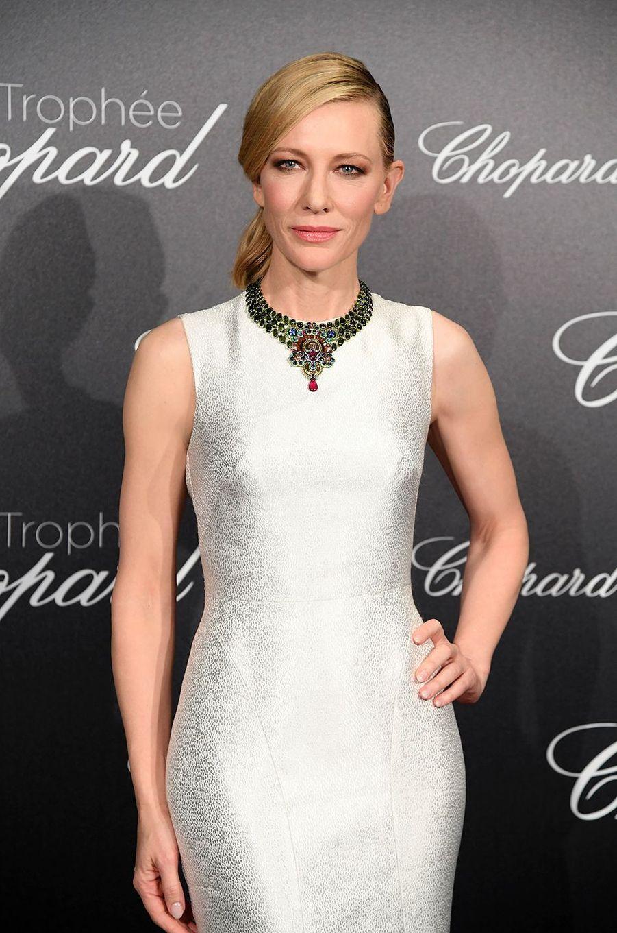 Cate Blanchett à la soirée du Trophée Chopard, le 14 mai 2018.