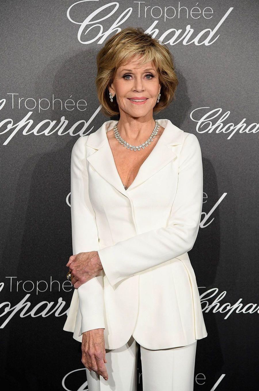 Jane Fonda à la soirée du Trophée Chopard, le 14 mai 2018.